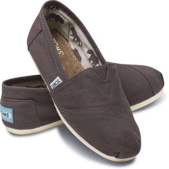 Toms Classic Ash Canvas Women's Shoes NIB Size 11